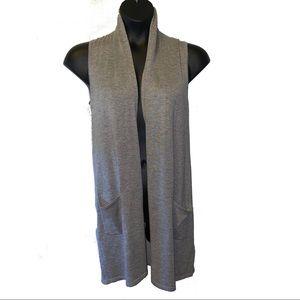 Cupio Sleeveless Open Front Cardigan | Size M